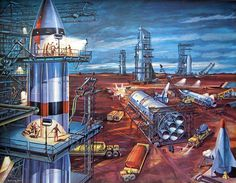 Retro Futurism by Klaus Bürgle. Waiting for #Fallout4? Subscribe to www.facebook.com/WaitingForFallout4