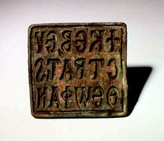 Byzantine Bronze Square-Shaped Bread Stamp