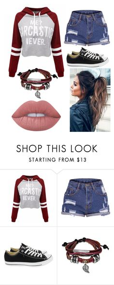 """Outfit #48"" by unicornicamitha on Polyvore featuring WithChic, Converse, Bling Jewelry and Lime Crime"