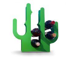 Suporte para vinhos em formato de cactus