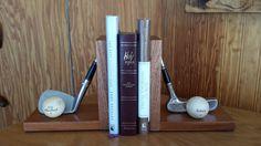 Golf Club Book Ends Book Ends Golf Decor by SaultydogCreations, $75.00