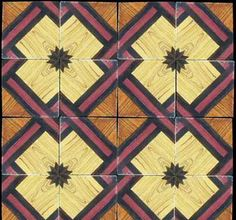 Sicilian parquet tiles...they paint the wood grain in glaze.