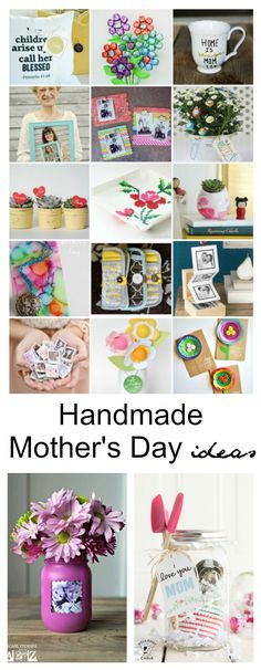 Mother's Day Ideas| I absolutely LOVE Handmade Mother's Day Gifts. There are so many amazing ideas out there, but I personally enjoy Handmade Mother's Day Gift Ideas that are simple and inexpensive.