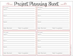5 Images of Printable Project Planner Template