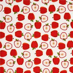 white apple fruit fabric by Robert Kaufman from the USA