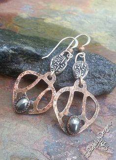 Metal Chic Copper Metal Clay Silver and by ThePurpleLilyDesigns