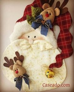@Babbo Natale @cucito creativo Christmas Crafts For Adults, Christmas Sewing, Xmas Crafts, Felt Christmas, Christmas Projects, All Things Christmas, Felt Crafts, Christmas Holidays, Diy And Crafts