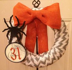 Holiday Chevron Wreath by SouthernPoise on Etsy