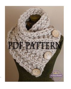 Knitting Pattern THE LANCASTER SCARF Chunky Button Neckwarmer Pattern Knit Infinity Scarf Pattern Knitted Cowl Pattern Knitting Pattern by BoPeepsBonnets on Etsy https://www.etsy.com/listing/211033881/knitting-pattern-the-lancaster-scarf