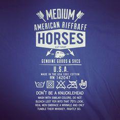 Horses Cut Shop T-Shirt Neck Label. #branddesign #appareldesign #label