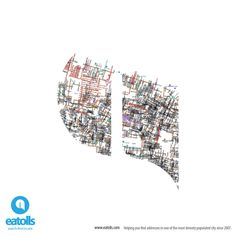 #eatolls Helping you find addresses in one of the most densely populated city since 2007. www.eatolls.com