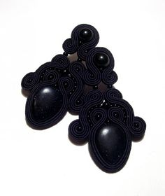 soutache earrings with awenturine