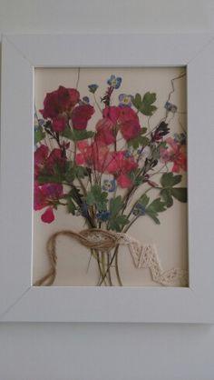 Kurutulmuş çiçek çalışmam, en bi güzeli bu gibi
