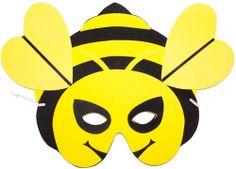 Máscara de abelha em Eva.