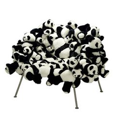 More stuffed animal chairs from the Campana Brothers.