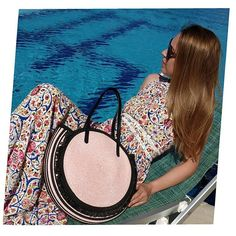THE BAG SOLEIL ON SWIMMING POOL . . . #soleil #cevalebag #ss19trends  #ss19  #goodwayvacationclub  #pinkinlove Swimming Pools, Inspirational, Pink, Bags, Swiming Pool, Handbags, Pools, Hot Pink, Totes