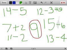 Exploring numbers (decomposing) in Kindergarten and using the iPad to document.