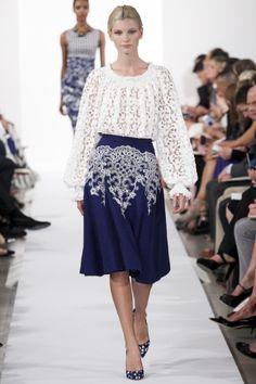 Sfilata Oscar de la Renta New York - Collezioni Primavera Estate 2014 - Vogue