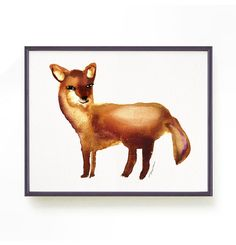 Fox print Watercolor painting Animal art print Nursery decor Fox Illustration Animal print Children art Animal lover Baby room art