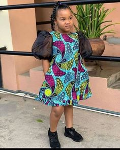 ankara stil Cute Ankara Simple Gown Styles for Kids, Baby African Clothes, African Dresses For Kids, Latest African Fashion Dresses, African Dresses For Women, Dresses Kids Girl, African Attire, Kids Outfits, Ankara Fashion, African Women