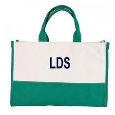 Monogram Tote Bag by lotsadotsdesigns on Etsy