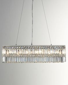 """Kitchen island light """"Canley"""" Crystal Pendant - Horchow"""
