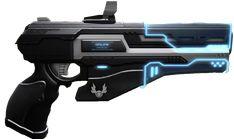 Ninja Weapons, Sci Fi Weapons, Weapon Concept Art, Weapons Guns, Sci Fi Armor, Sci Fi Pistol, Cyberpunk, Laser Tag, Sci Fi Games
