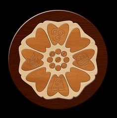 Avatar the Last Airbender Symbol ~ Order of the White Lotus ~ White Lotus Tile with nation Symbols engraved