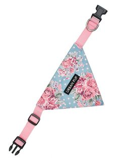 Classic Rose Floral Bandana | Patterned Dog Harnesses at Urban Pup