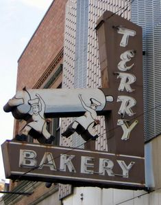 Terry Bakery vintage neon sign - Michigan So ... Michigan!  I started out trying to find local signs we could go take a look at on vacation but then I got to spotting all these signs around the country.  Several from my childhood in Sacramento.  This one is adorable.
