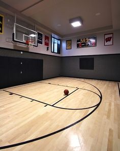 15 ideas for indoor home basketball courts houses pinterest. Black Bedroom Furniture Sets. Home Design Ideas