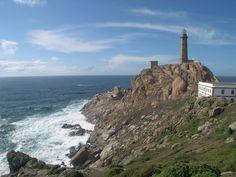Faro Finisterre (o Fisterra). Galicia. España.