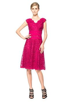 Tadashi Shoji Womens Marna Banded Embroidered Cocktail Dress Pink 12 *** Check out this great product.