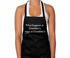 What happens at Grandma's Stays Cotton Apron Annabel Trends Mother's Day Gift
