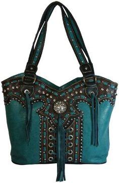 Montana West Concealed Carry Purse - Sac couleur canard et marron. Leather Purses, Leather Handbags, Leather Wallet, Leather Bag, Bag Quotes, Concealed Carry Holsters, Western Purses, Bag Sale, Fashion Bags