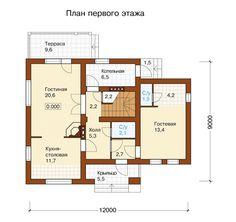 План первого этажа проекта I-136-1P