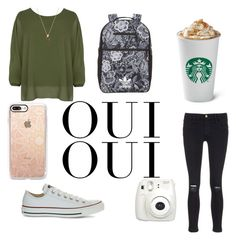 """""""Random outfit"""" by alyshiakemp ❤ liked on Polyvore featuring WearAll, Frame, adidas Originals, Converse, Fujifilm, Oui and Casetify"""