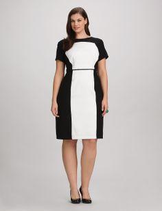 Spense Plus Size Sleeveless Colorblocked Sheath Dress - Plus Size ...