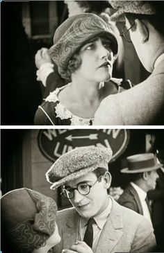 """Mildred Davis and Harold Lloyd in """"Safety Last"""" (1923) directed by Fred C. Newmeyer"""