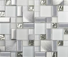Stainless Steel Mosaic Tiles Glass mosaic tile backsplash mosaic tiles - modern - kitchen tile - other metro - My Building Shop