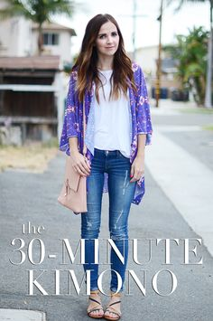 Check out this DIY Kimono top you can make in only 30 minutes!