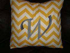 Embroidered Chevron Throw pillow by MJCustomEmbroidery on Etsy, $30.00