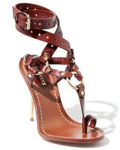 Emilio Pucci Leather Toe Thong Sandal