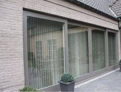 Sliding Wood framed glass patio doors