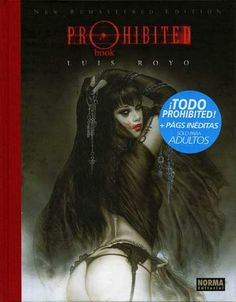 Portada de Prohibited Bookde Luis Royo