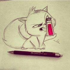 Isma as a cat