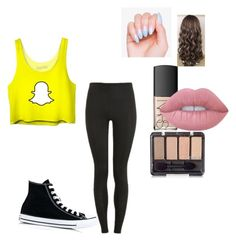"""""""Snapchat addiction"""" by dj2000noname ❤ liked on Polyvore featuring Proskins, Converse, NARS Cosmetics and Lime Crime"""