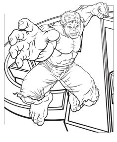 the avengers hulk online coloring pages