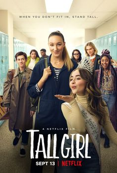 """Nzingha Stewart on 2019 Sabrina Carpenter. Official """"Tall Girl"""" Movie Poster posted by film d. Teen Movies, Movies 2019, Hd Movies, Movies Free, Comedy Movies, Watch Movies, Sabrina Carpenter, 10 Film, Film Movie"""