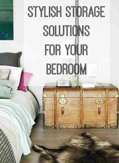 Hide the Clutter: Stylish Bedroom Storage | Love Chic Living #bedroomstorageideas